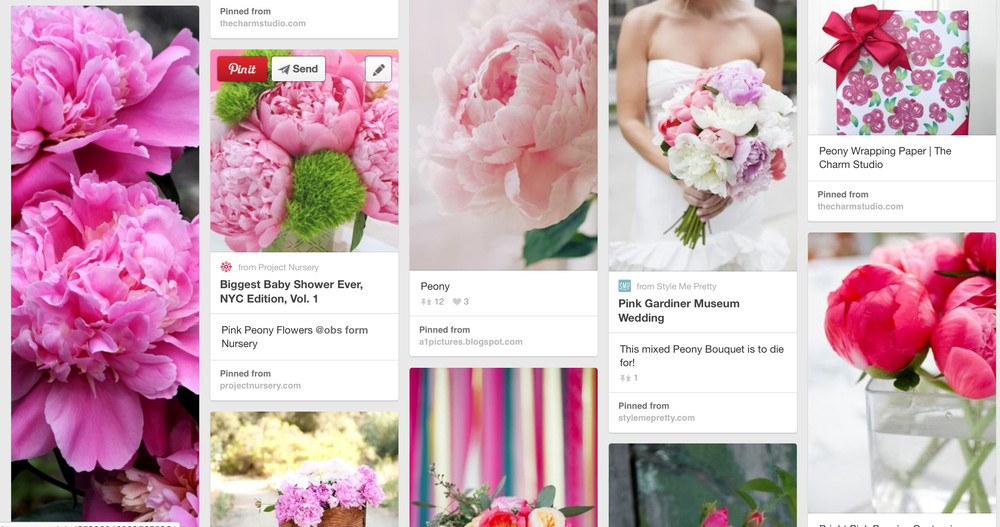 my pink peony inspiration board...