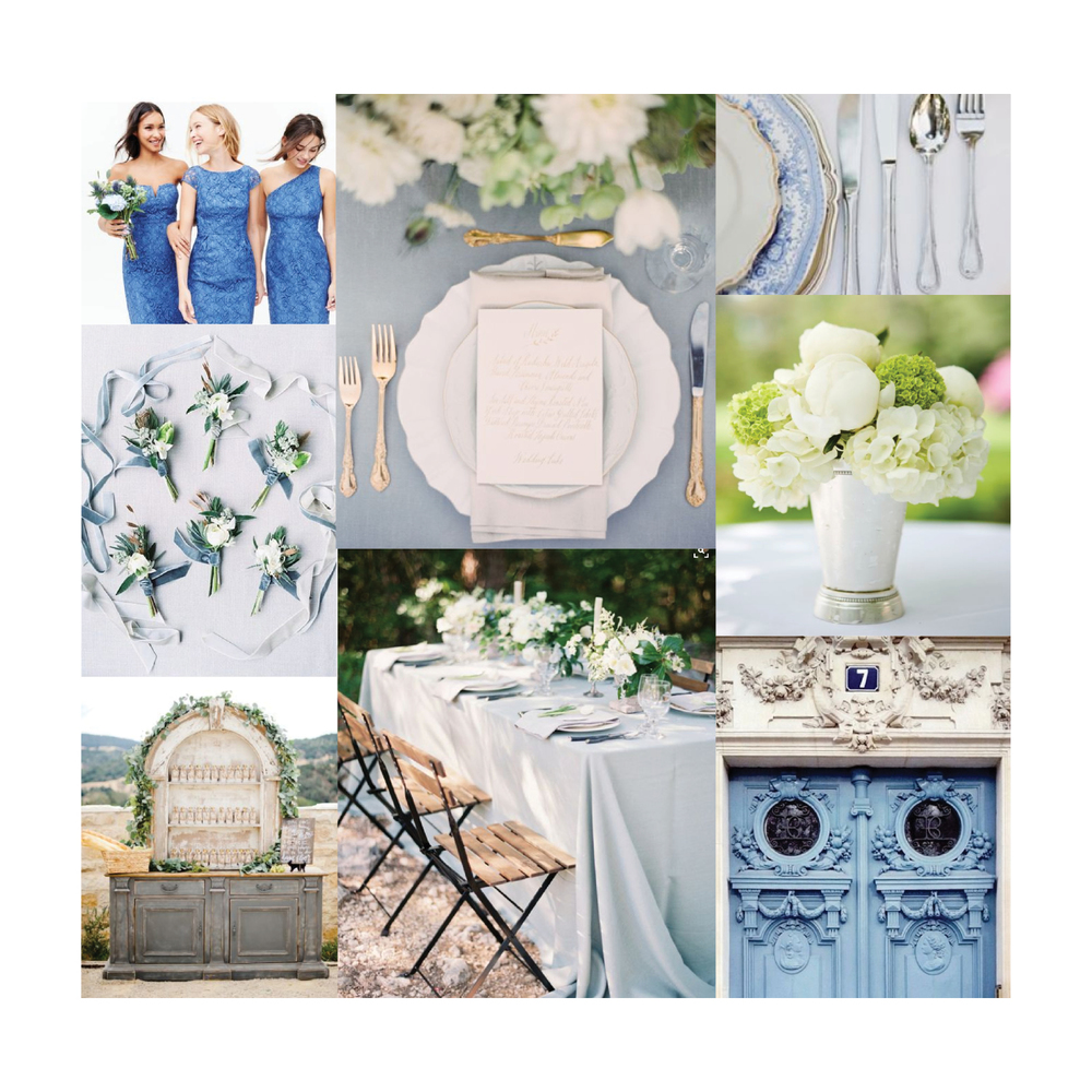 Catherine & Andrew's wedding inspiration board