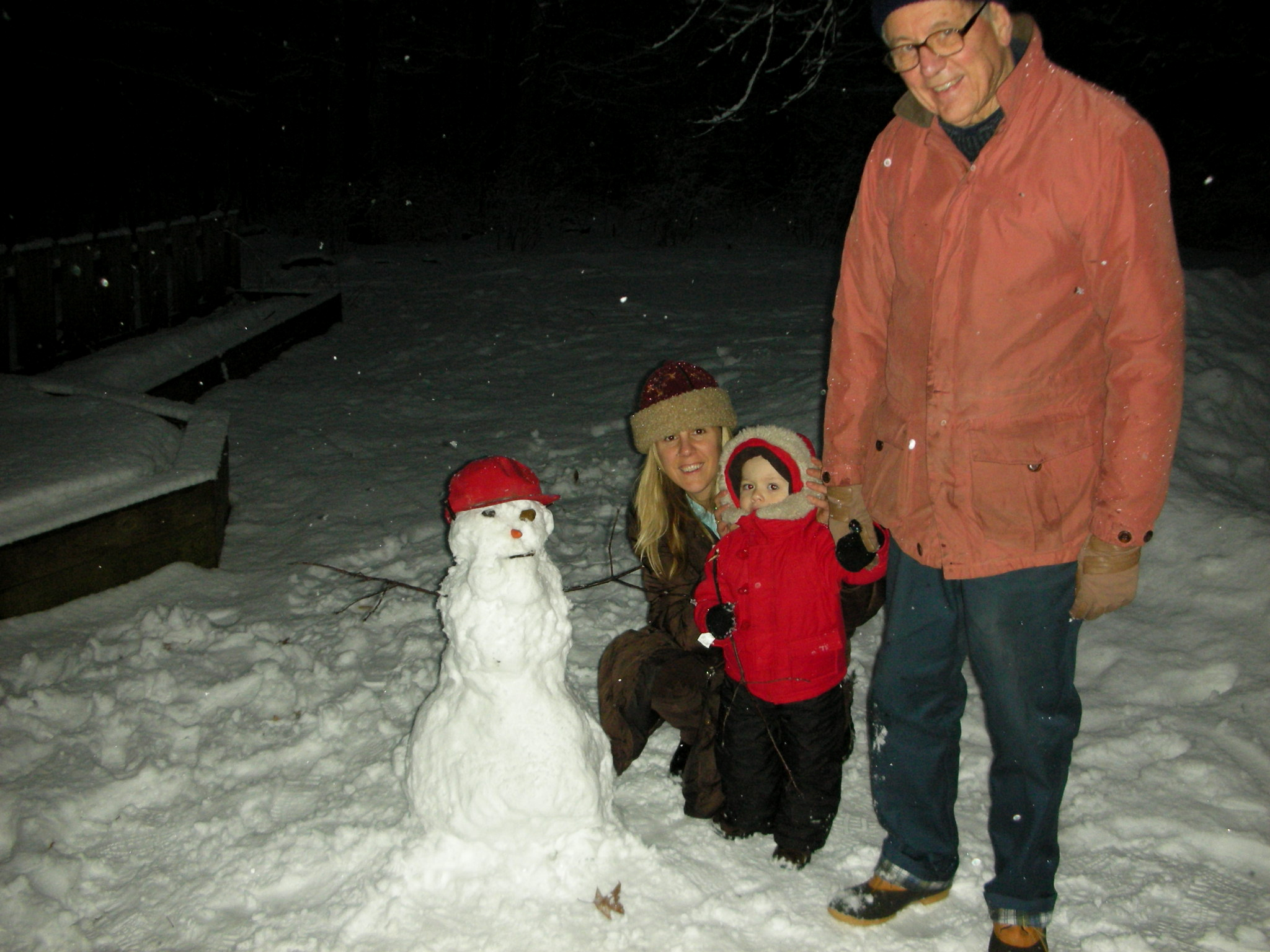 Dylan Building a Snowman with Victoria and Dennis