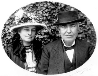 Portrait of Thomas Alva Edison with his second wife Mina, ca. 1908