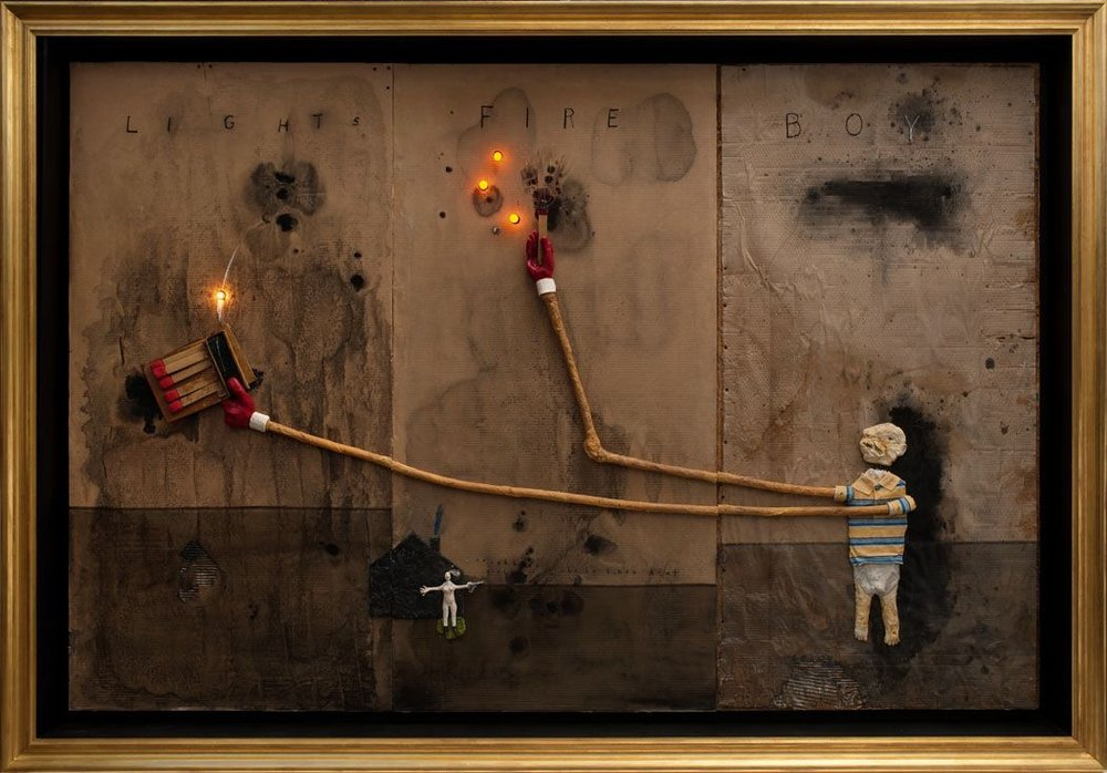 Boy Lights Fire (2010)  by David Lynch.