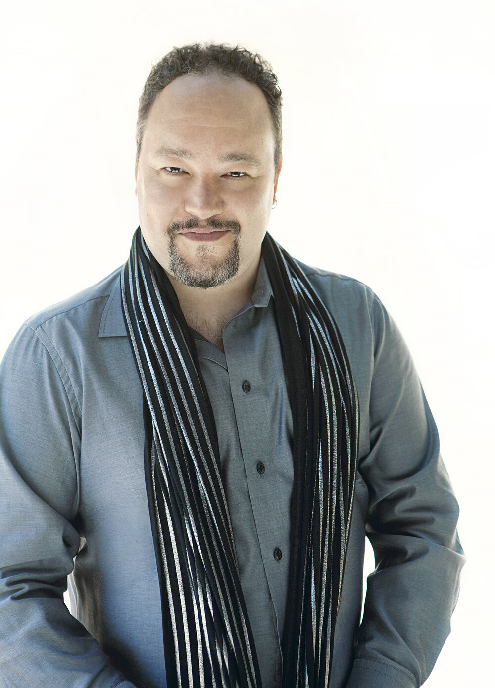 Robert Paterson Portrait with Scarf 3