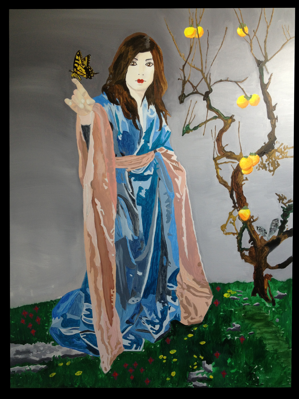 "Jesse Waugh  ""Butterfly Goddess "" 2013, Oil on canvas"