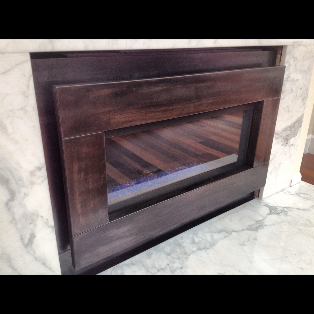 Inset Steel Fireplace