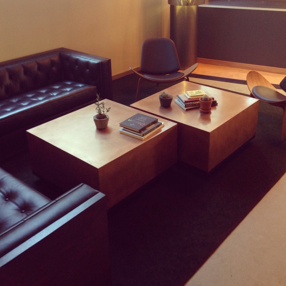 Copper Cube Coffee Tables