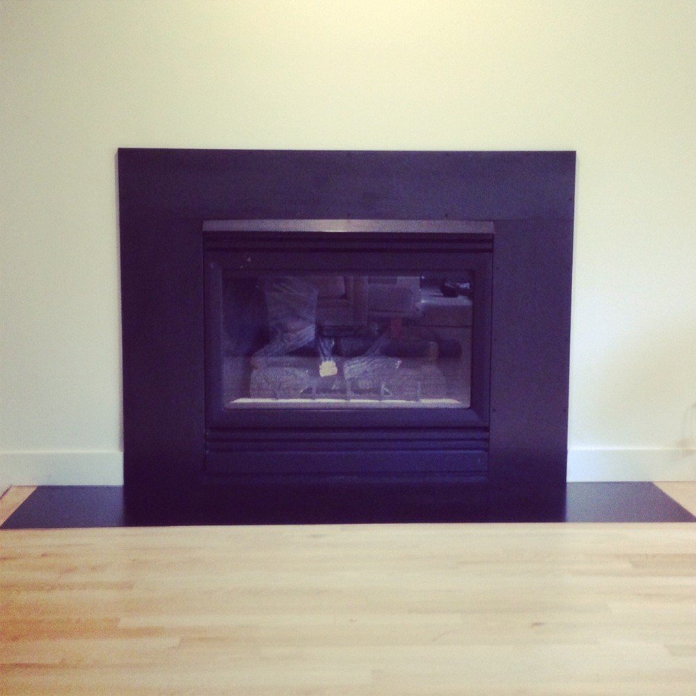 Steel Fireplace and Hearth