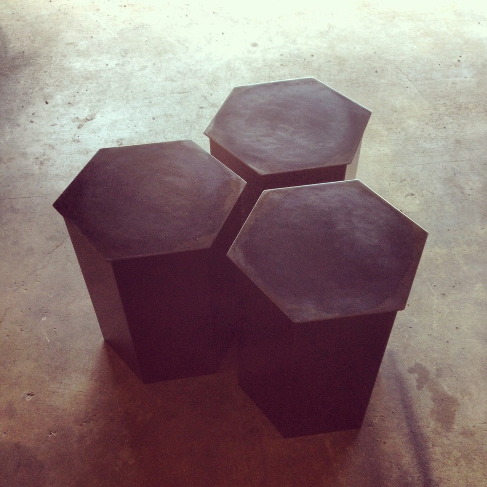 Hexagon Side Tables