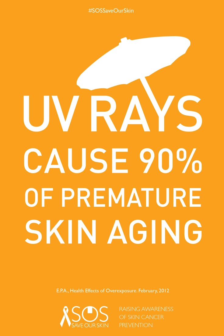 UV Rays cause skin cancer and premature aging