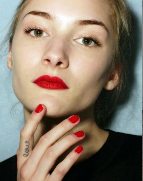A bright red mani is always on trend! This Spring try Cherry Red or an Orange Red.