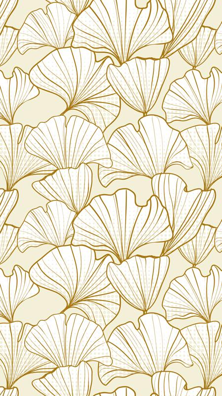 Gingko Leaves Cream