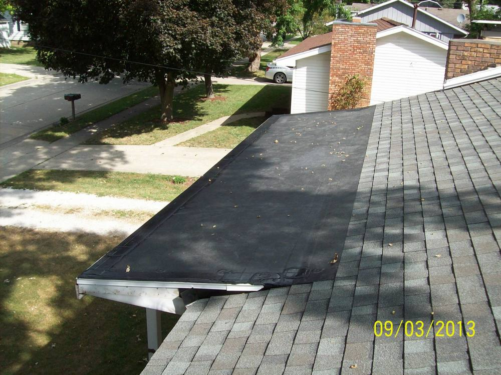 After Picture - Architectural Laminate Shingles and EPDM Roofing