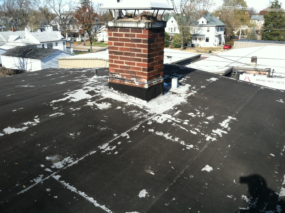 Before Picture - Mod. Bit. Roofing