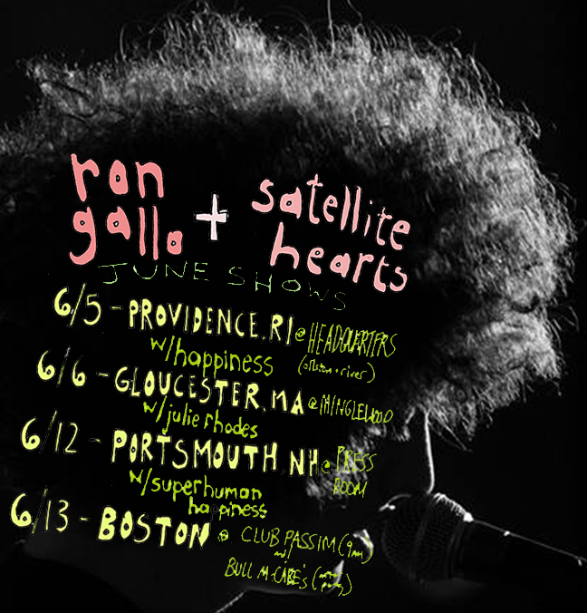 hitting the road for a handful of shows with my philadelphian brotherz, Satellite Hearts, they will also be my band for this tour.