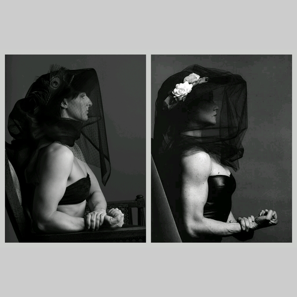 © 2015 Jacob Long - Leah on the left, Lisa by Robert Mapplethorpe on the right. (The jpeg compression in the image is from the app I used to create the side-by-side view)