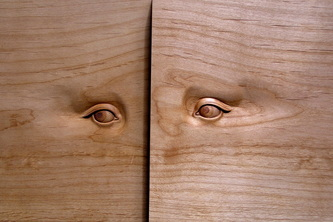 An Iris carved out of boxwood