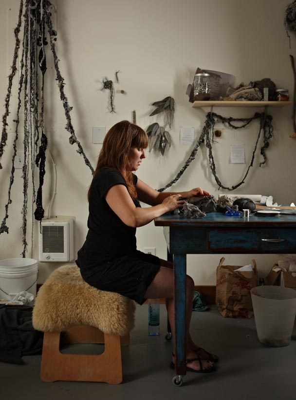 TOPIC: Solstenen, a seven-week residency with installation artist Mandy Greer, who set up shop at TPR five days a week and taught visitors how to crochet and be a part of an ongoing project, this topic's namesake. Photo courtesy of The Seattle Times.