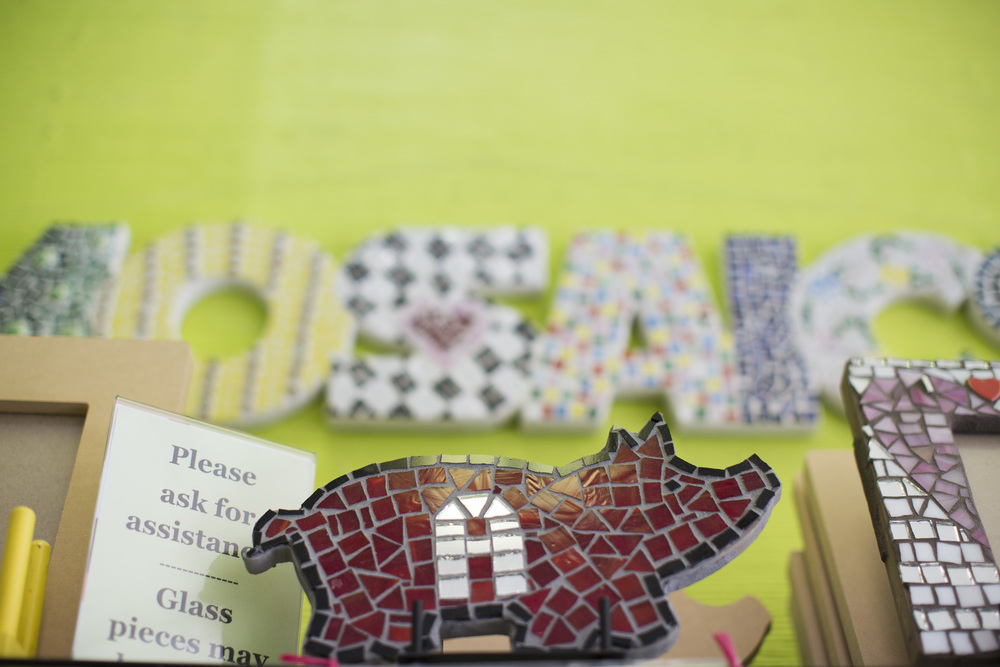 Make mosaics and take them home the same day