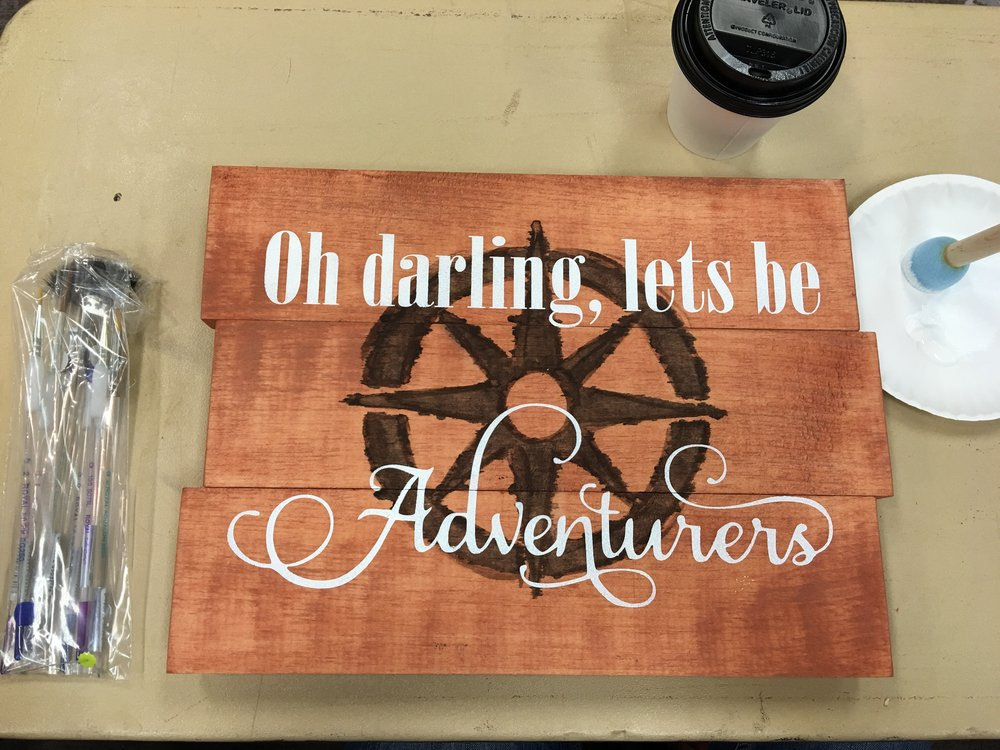 Cute little Board Art project, trying out a double stain 😬