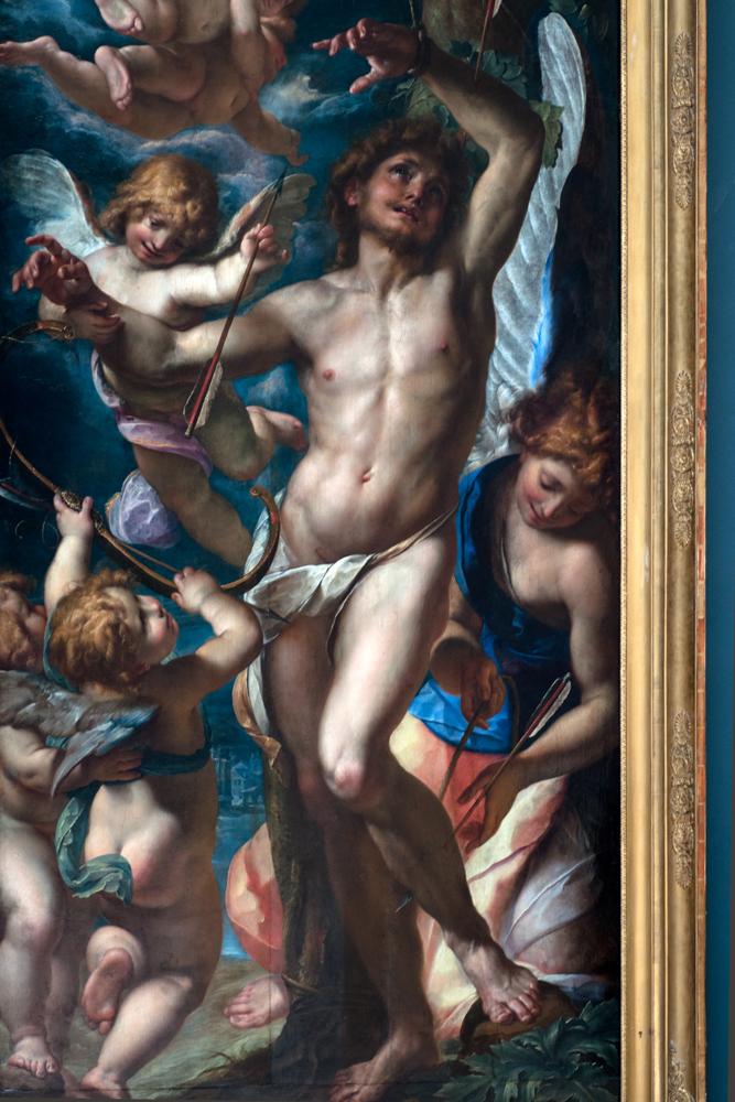 """Saint Sébastien Secouru par les Anges,"" 1500s, Giulio Procaccini."
