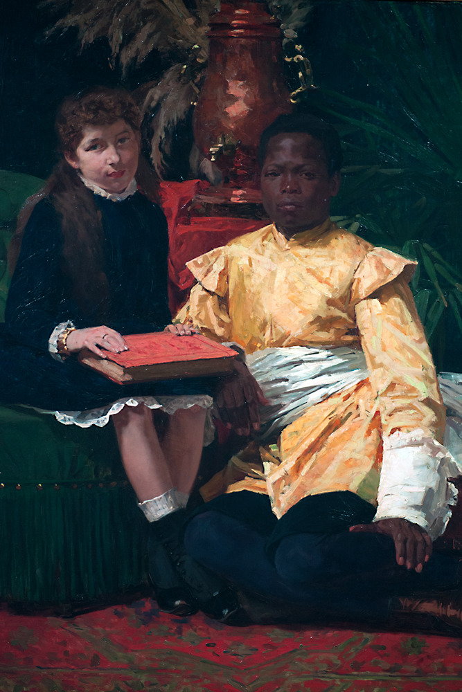 """""""De Neger en Ik,"""" 1886, Gustave Vanaise."""