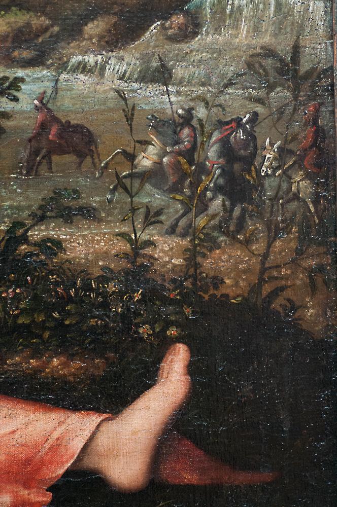 'Bildnis einer ruhenden jungen Frau in einer Landschaft,' Giovanni de Busi gen. Cariani, 1520/24