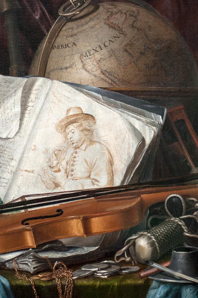 'Stilleben mit Musikinstrumenten,' Pieter de Ring, 1650
