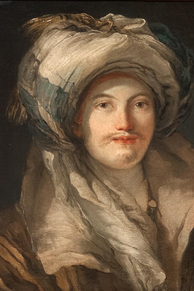 'Bildnis eines Mannes in orientalischem Kostüm,' Tiepolo, 1765