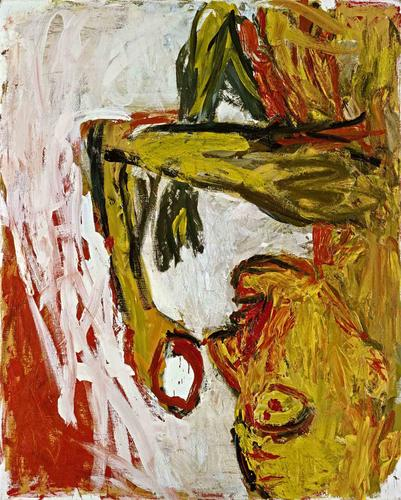 Georg Baselitz - Drinkers and Orange Eaters - http://www.skarstedt.com/exhibitions/2015-05-11_georg-baselitz/#/images/4/