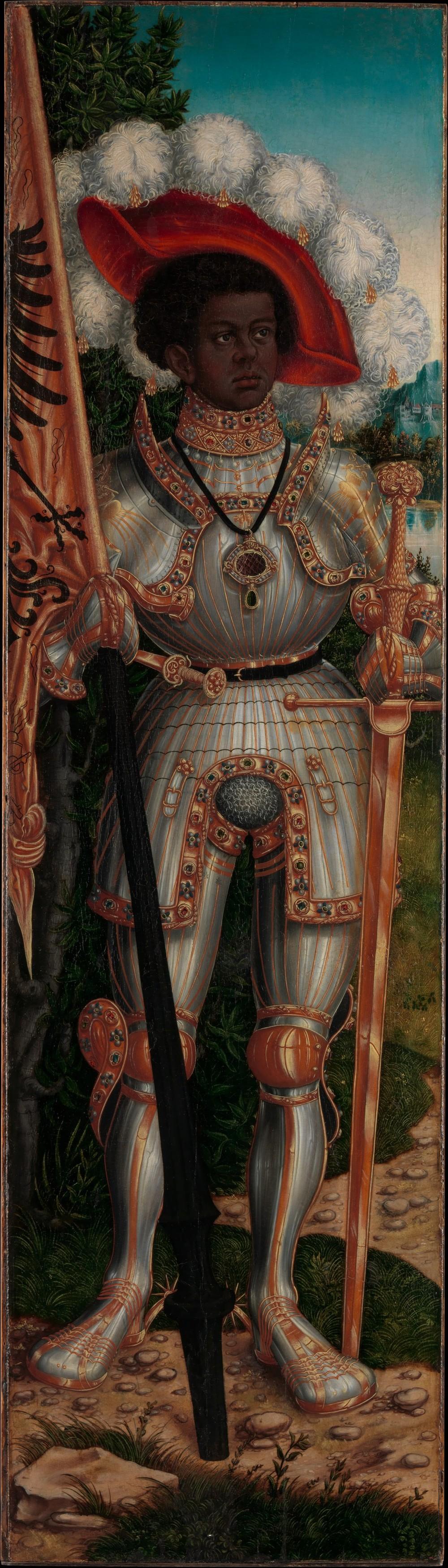 Cranach'sSaint Maurice -http://www.metmuseum.org/exhibitions/listings/2015/cranach-saint-maurice