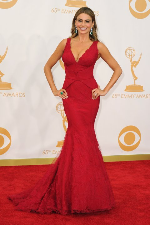BEST DRESSED RUNNER-UP: Sofia Vergara in Vera Wang.
