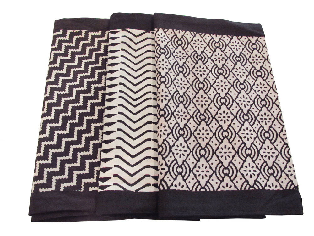 "Diagonal,zigzag & diamond in black H-CUS-BG-various in black 12"" x24"" L"