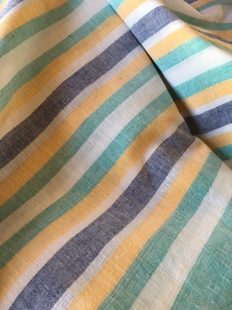 Organic cotton, woven stripes