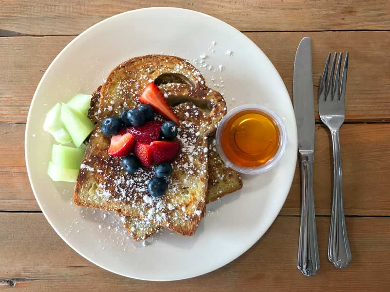 Taro French Toast by Toasted Craft Sandwiches