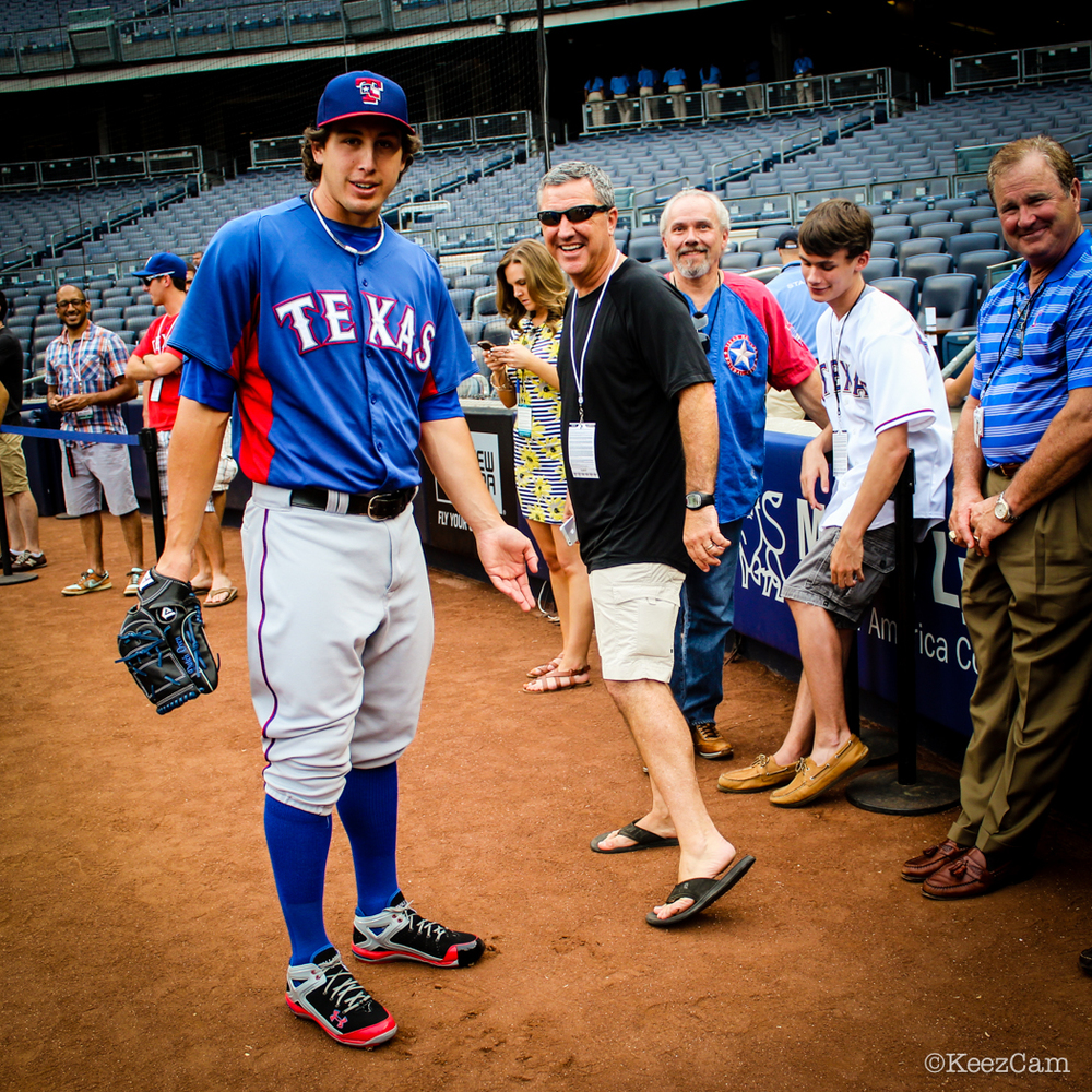 DEREK HOLLAND WITH RANGER FANS