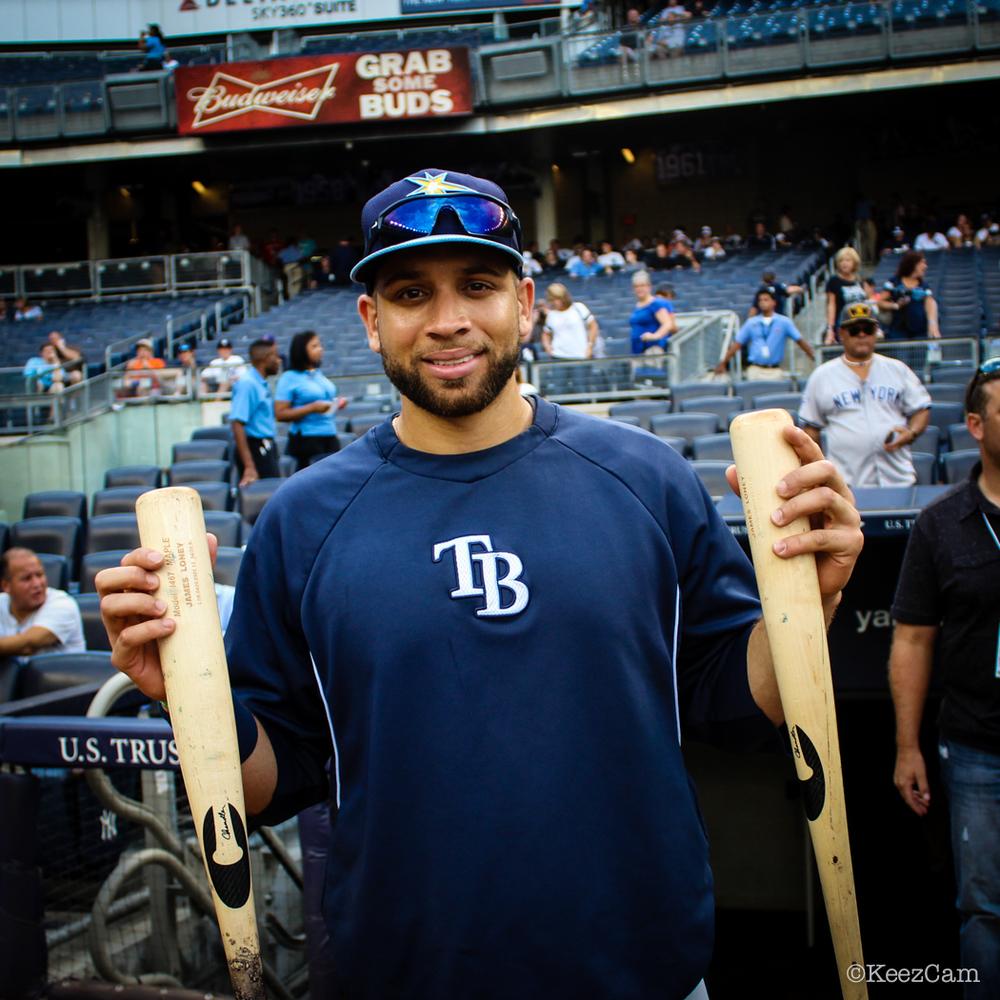 Tampa Bay Rays 1B James Loney & The Chandler Bats