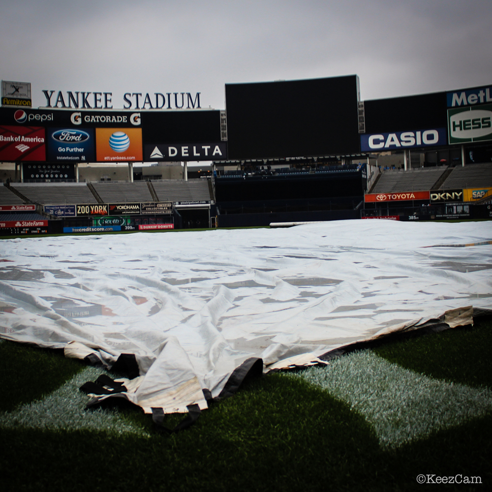 The Tarp before the first pitch