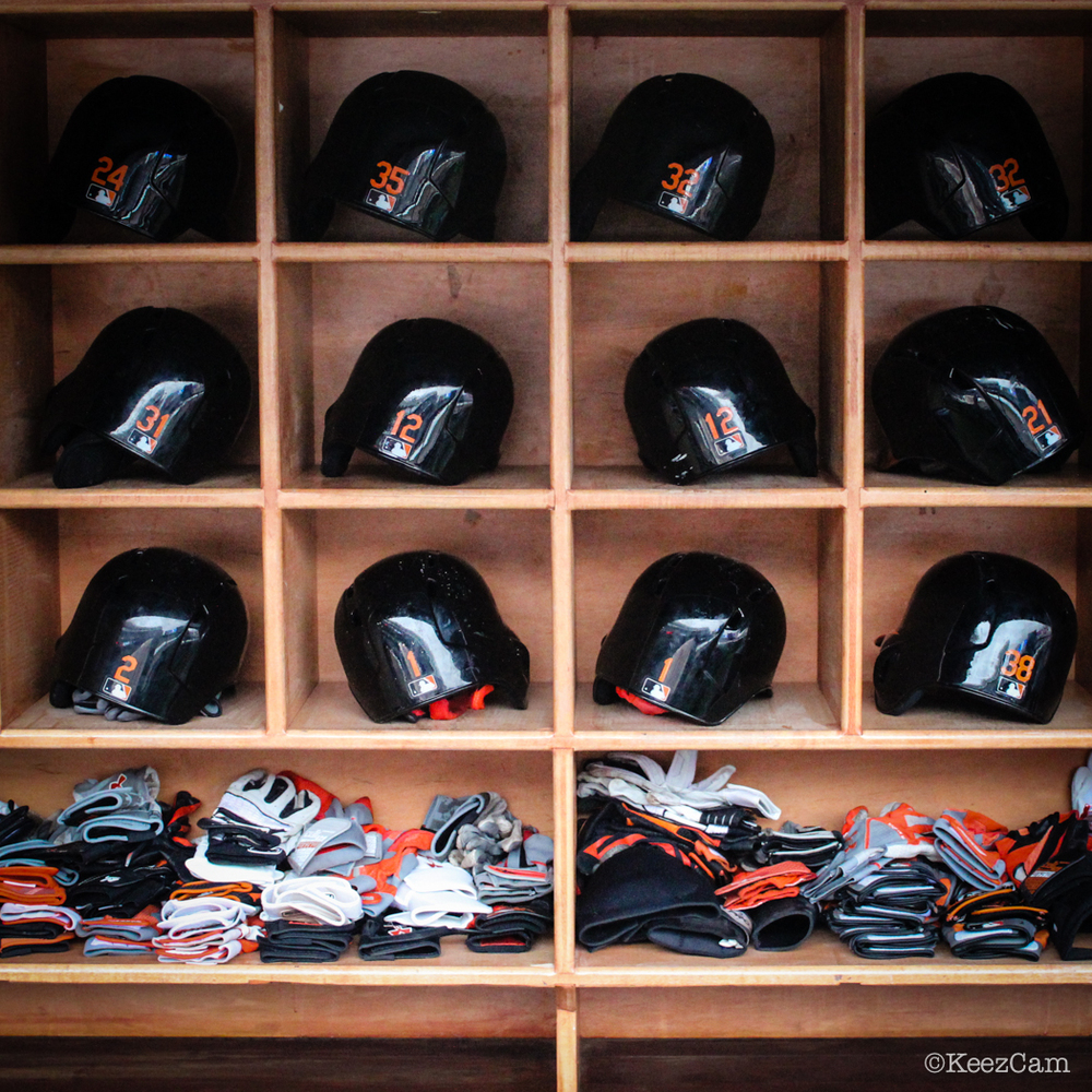 Baltimore Orioles Helmet Rack