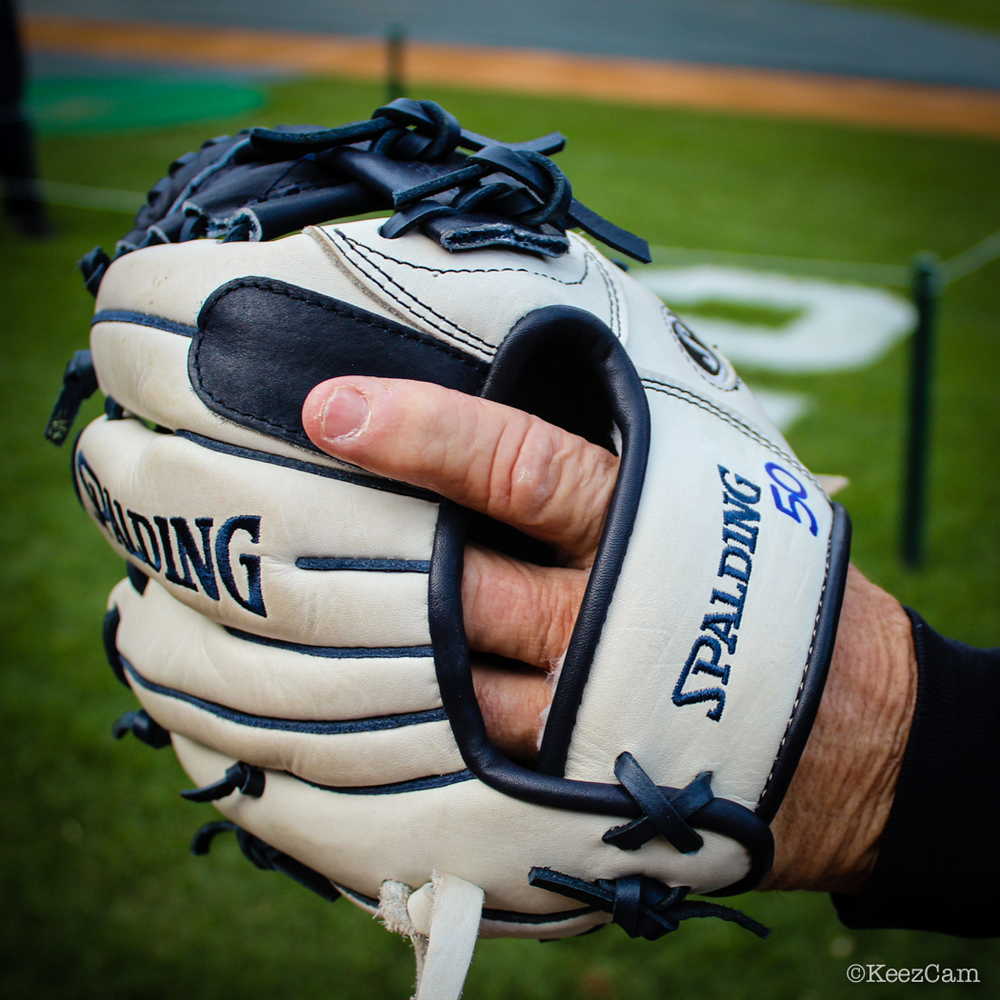1B Coach Mick Kelleher training glove