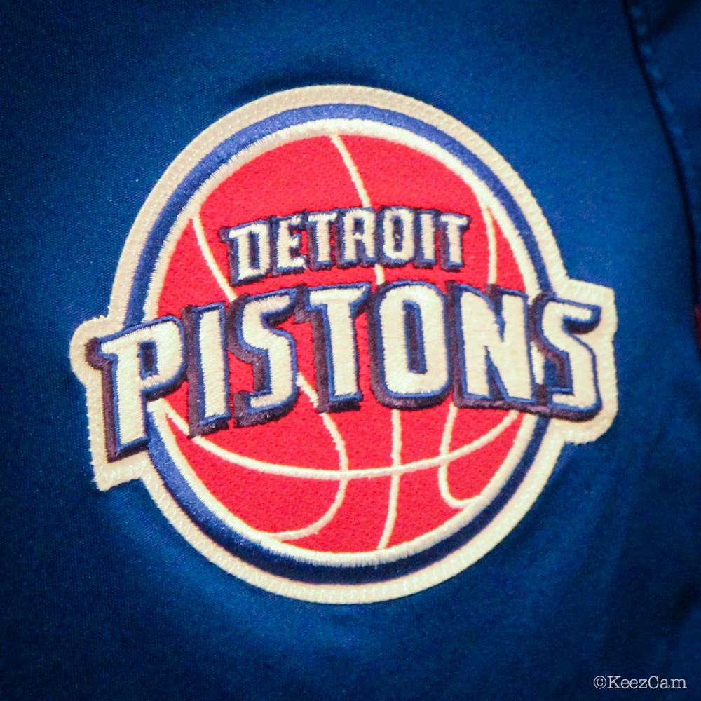 Pistons logo from Josh Smith shorts