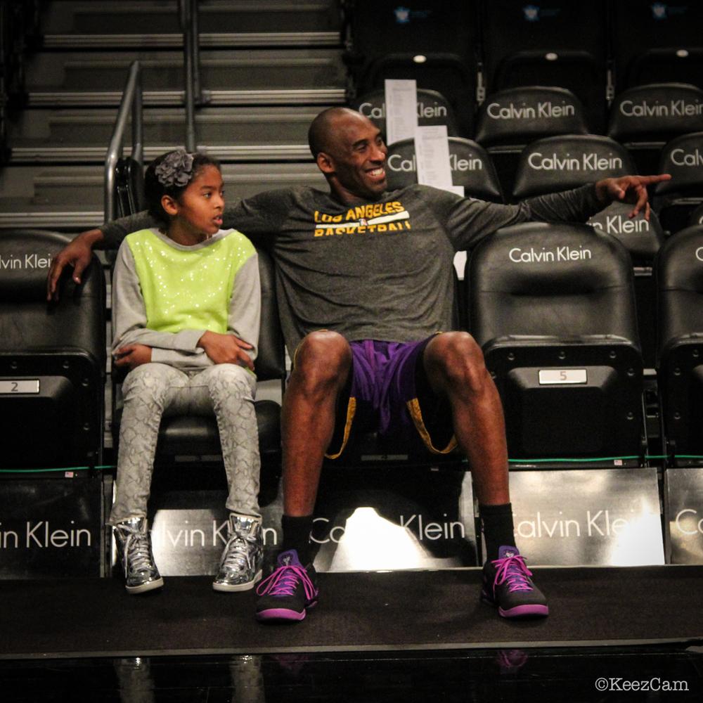 Kobe Bryant & his Princess Court Side