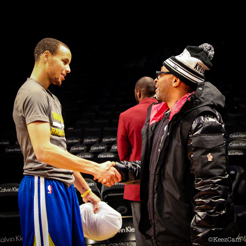 Stephen Curry & Spike Lee
