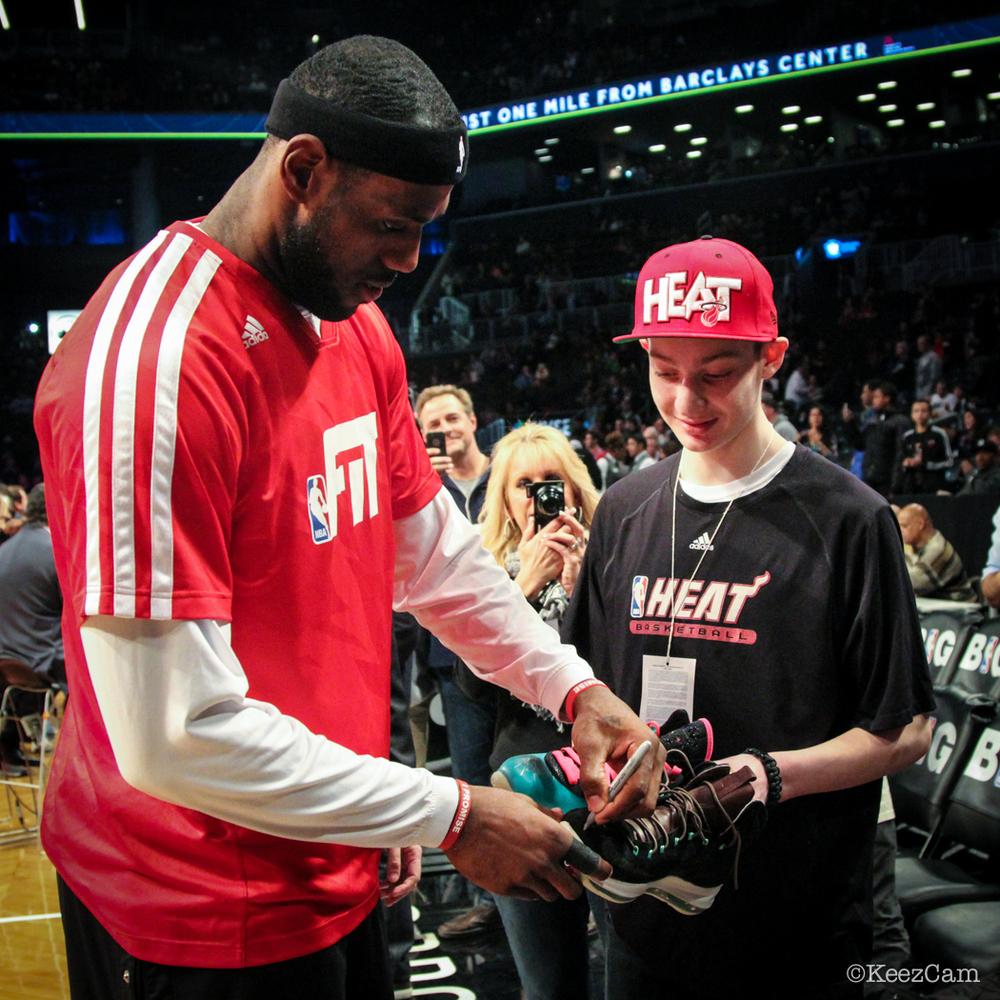 LeBron James autograph