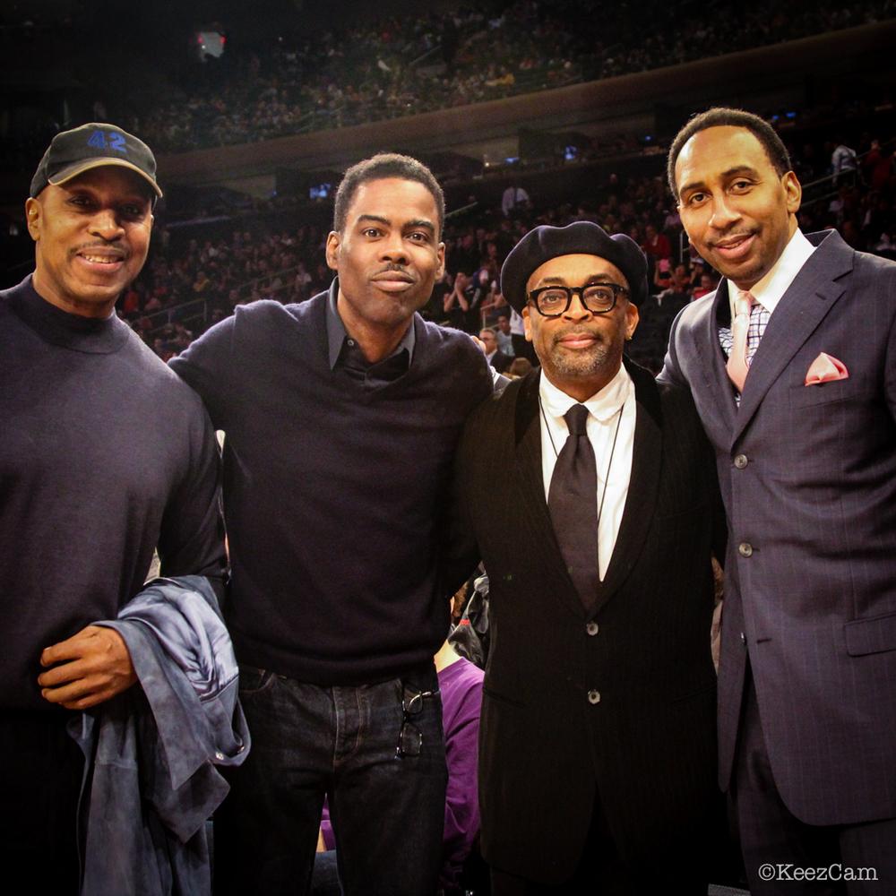 Willie Randolph, Chris Rock, Spike Lee & Stephen A. Smith