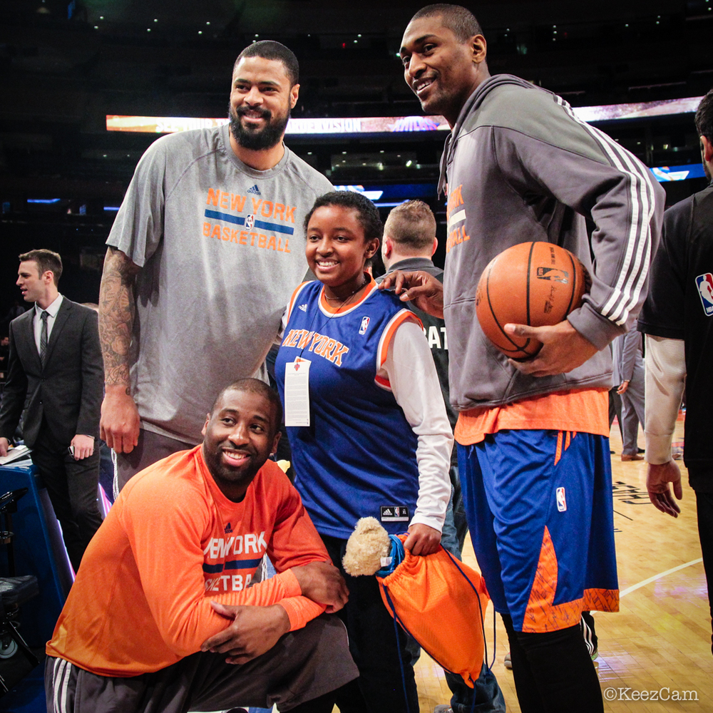 Tyson Chandlerm Raymond Felton & Metta World Peace