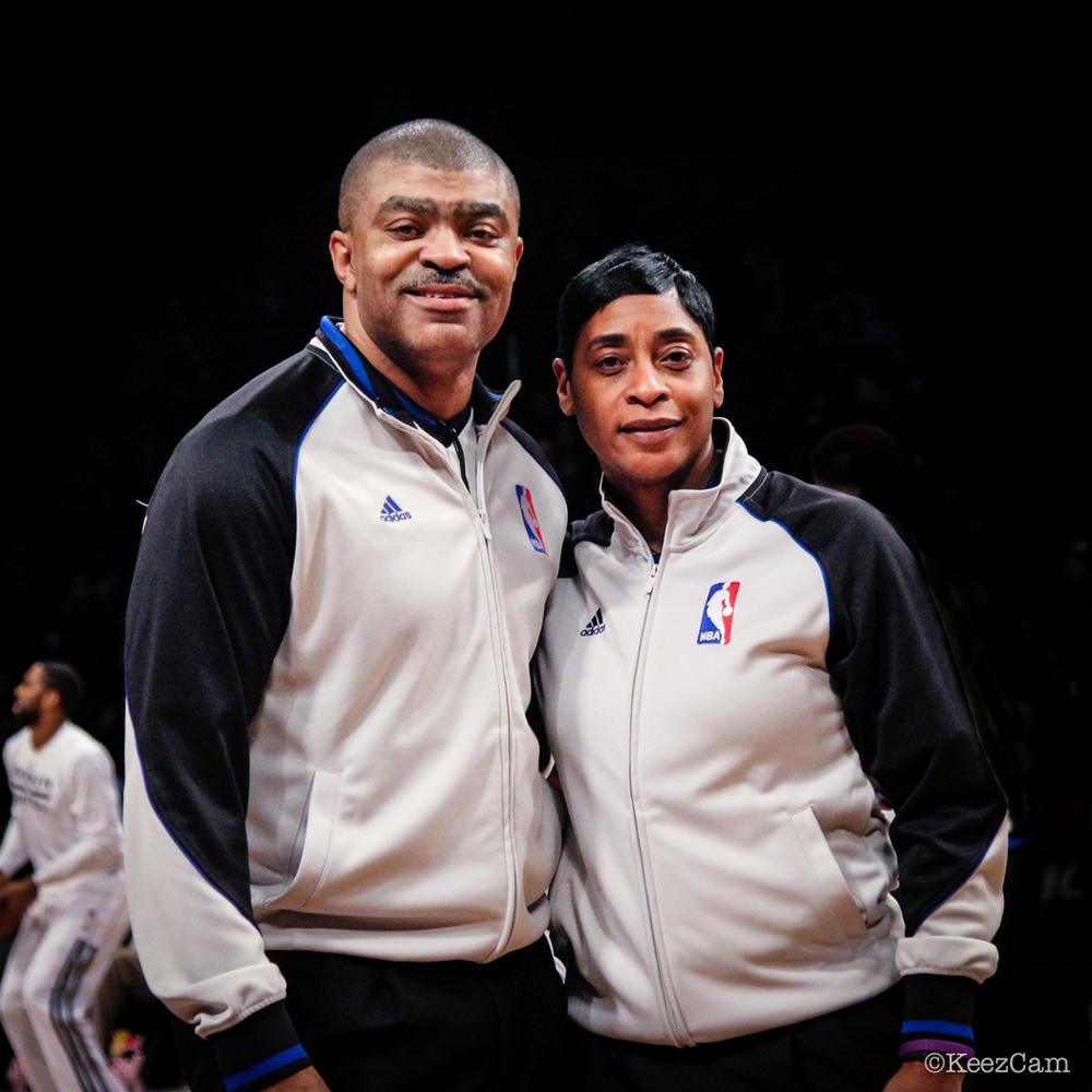 NBA Officials Tony Brothers & Violet Palmer