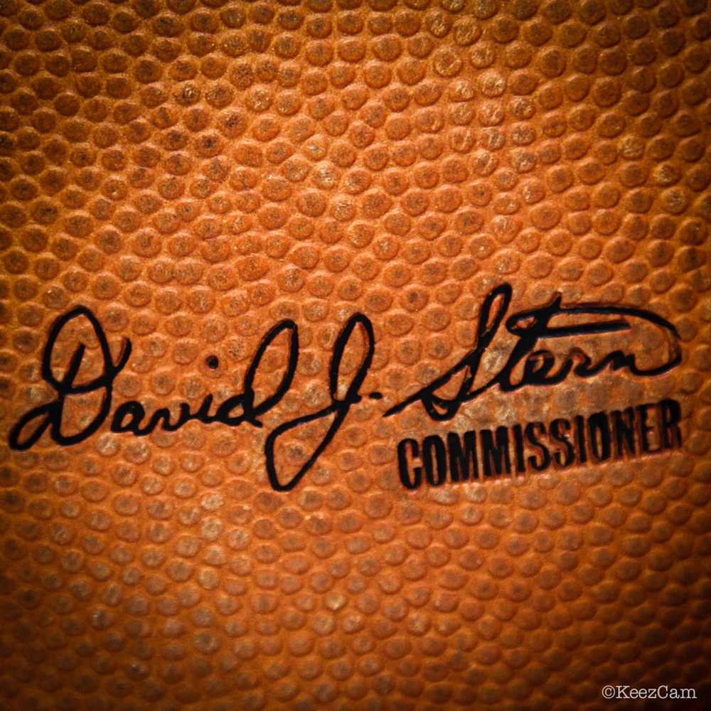 David Stern last signature on NBA Basketball