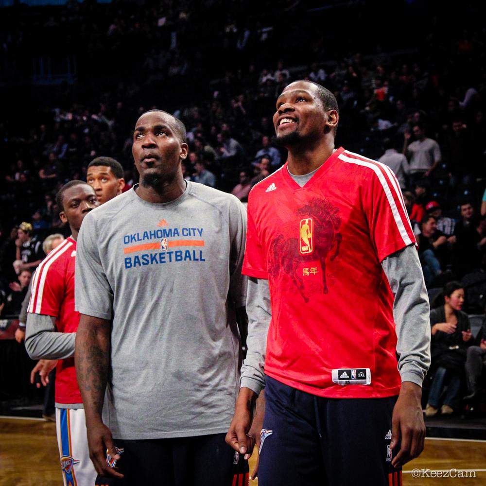 Kendrick Perkins & Kevin Durant