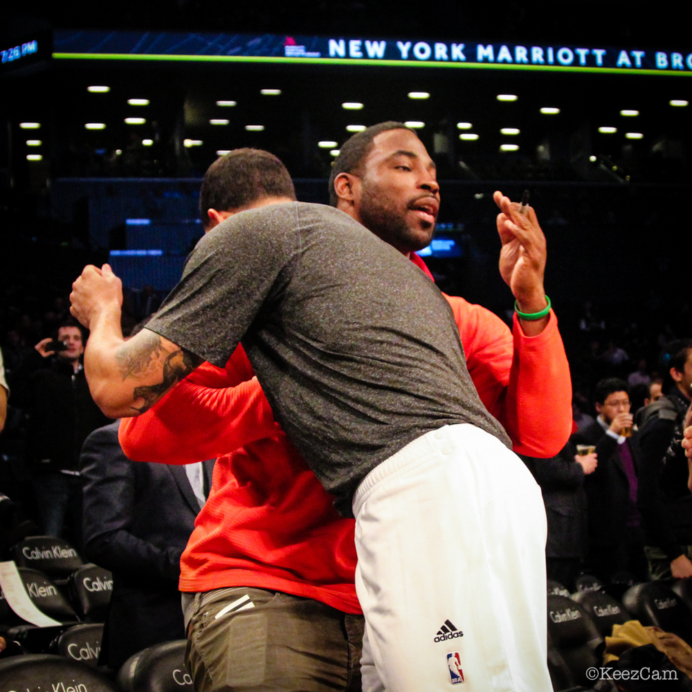 Justin Tuck & Deron Williams