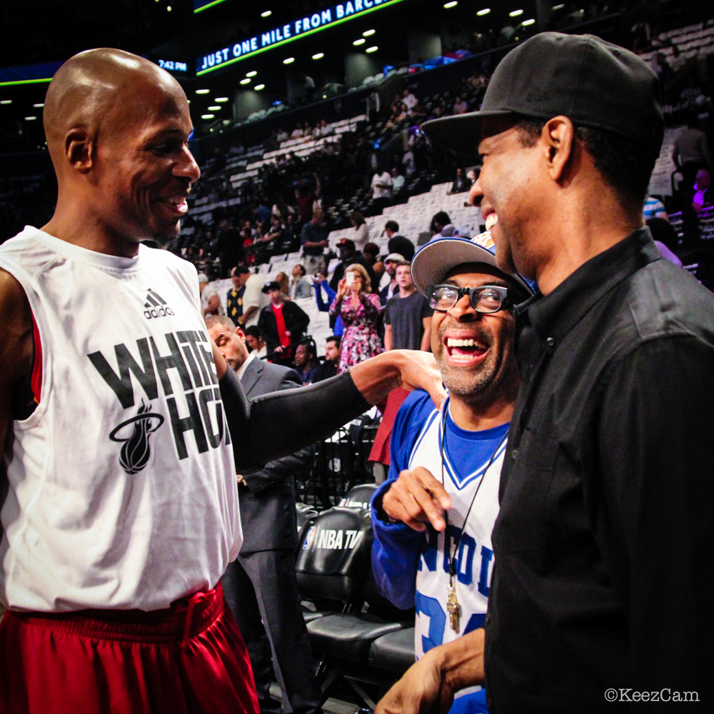 Ray Allen, Spike Lee & Denzel Washington
