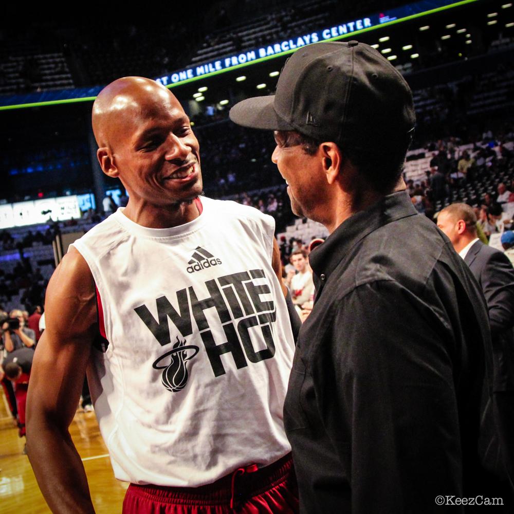 Ray Allen & Denzel Washington